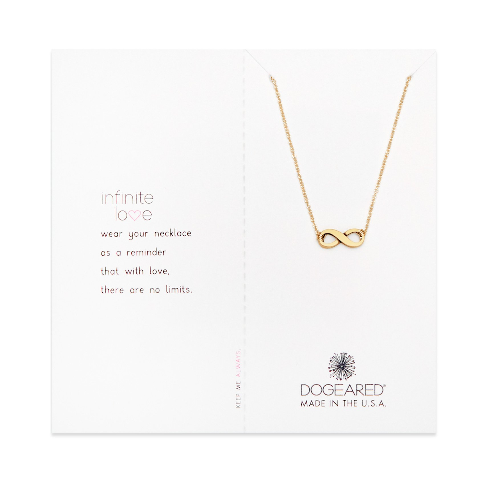 Dogeared Infinite Love Necklace, Gold Dipped