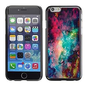 FECELL CITY // Duro Aluminio Pegatina PC Caso decorativo Funda Carcasa de Protección para Apple Iphone 6 Plus 5.5 // Space Abstract Painting