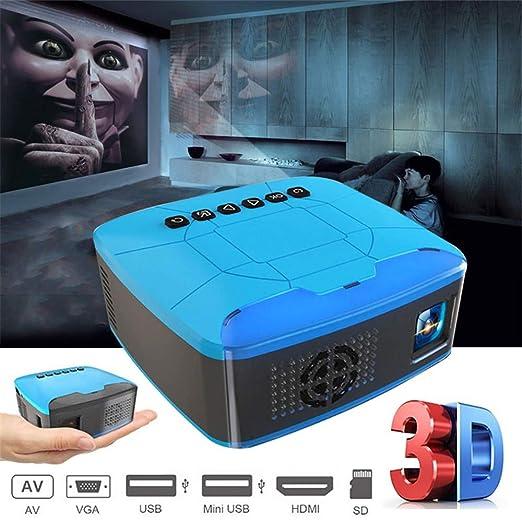 WMWHALE Mini proyector USB HDMI Interfaz AV Video 20000 ...