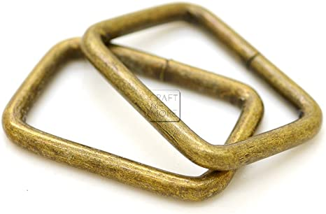 Gold Metal Rectangle Loop Rings Wire Formed Buckles for Webbing Strap Tape