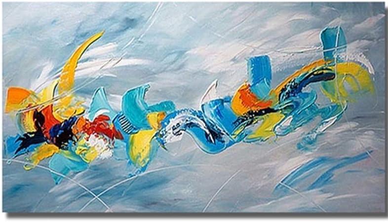 ZHOUYF Peintures Toile Image Moderne Peinture Abstraite /Épaisse Peintures /À LHuile Sur Toile /À La Main Beau Mur Color/é Art Moderne Art Pour La D/écoration 70Cmx120Cm