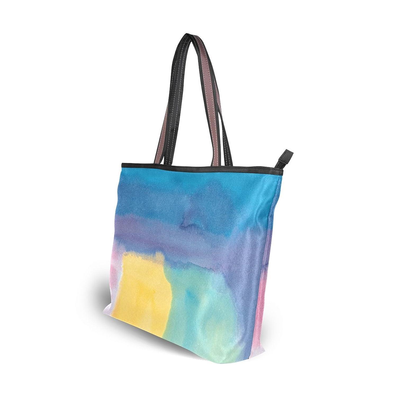 Leezone Colorful Oil Paint Printing Microfiber Shoulder Handbags