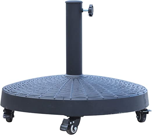 Outsunny Base para sombrilla de jardín, de resina, con ruedas, para exteriores: Amazon.es: Jardín