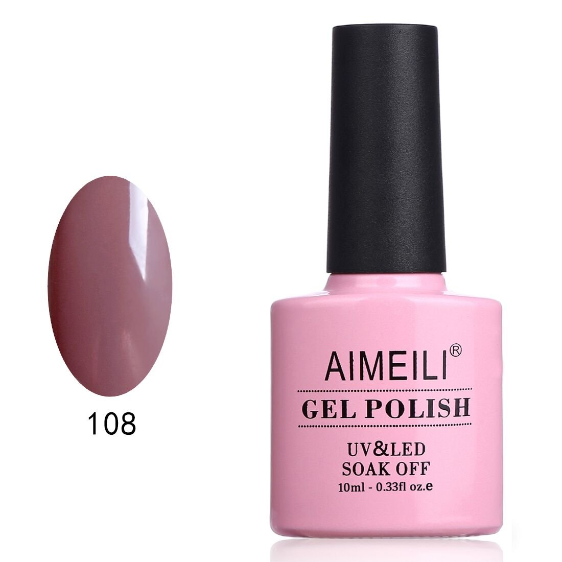 AIMEILI Soak Off UV LED Gel Nail Polish - Brown Lilies (108) 10ml