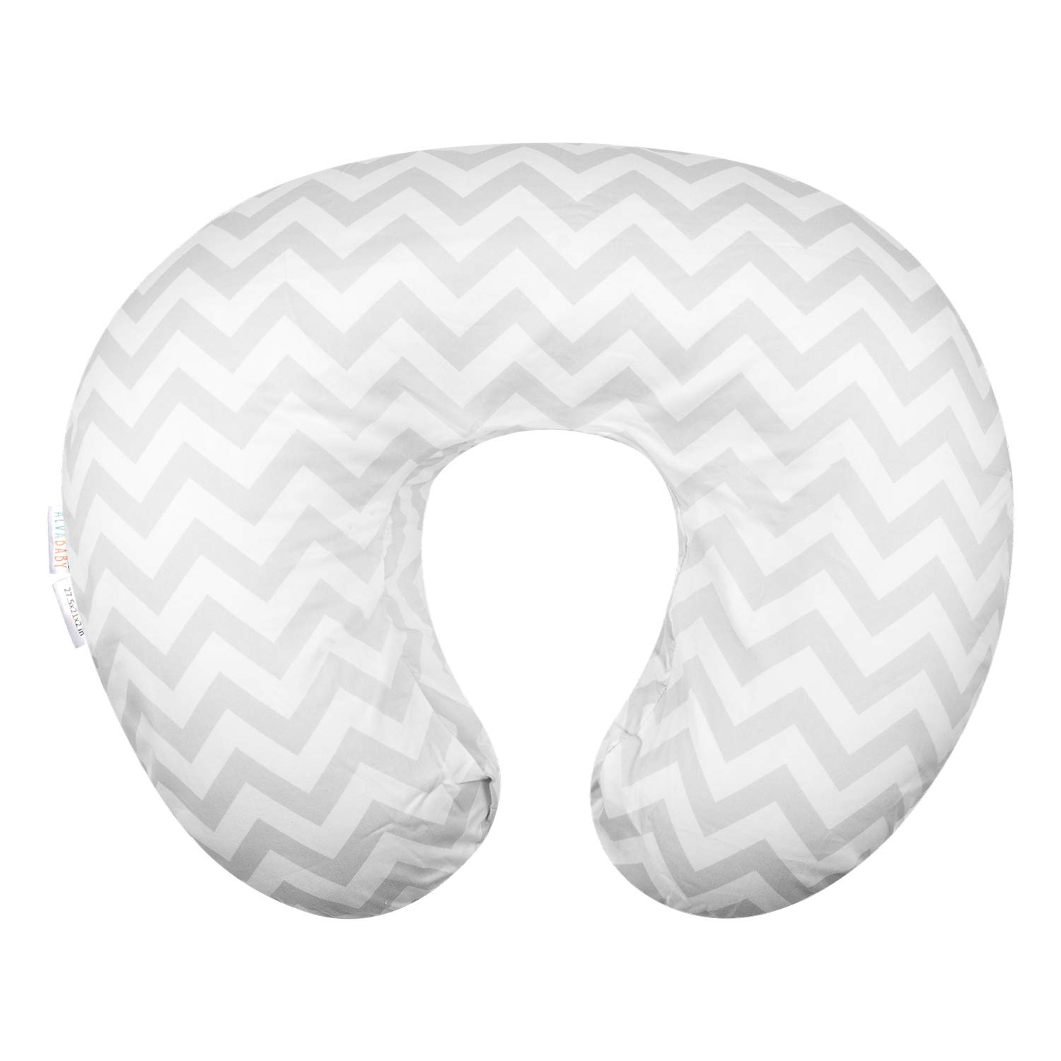 ALVABABY Nursing Pillow Cover Slipcover,100% Organic Cotton,Soft and Comfortable,Feathers Design,Maternity Breastfeeding Newborn Infant Feeding Cushion Cover,Baby Shower Gift (ZT-Z16)