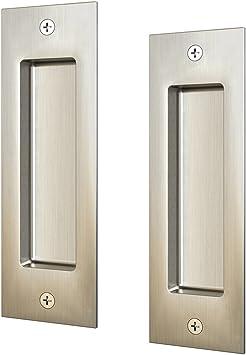 Juego de 2 tiradores para puerta corredera (cerradura de puerta): Amazon.es: Bricolaje y herramientas