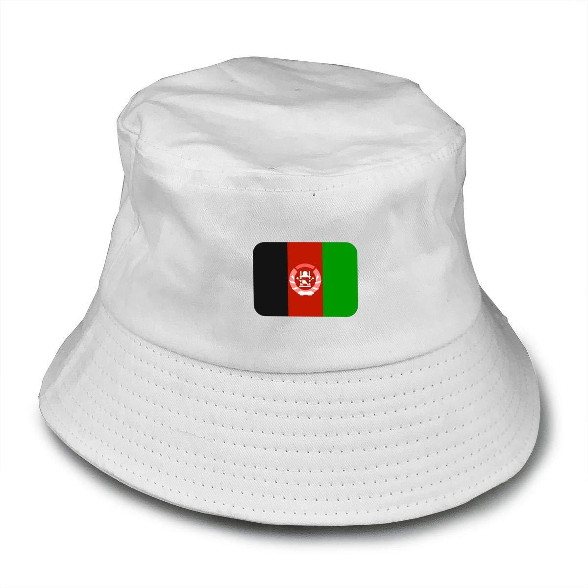 NDFGR Afghanistan Unisex Cotton Packable Black Travel Bucket Hat Fishing Cap