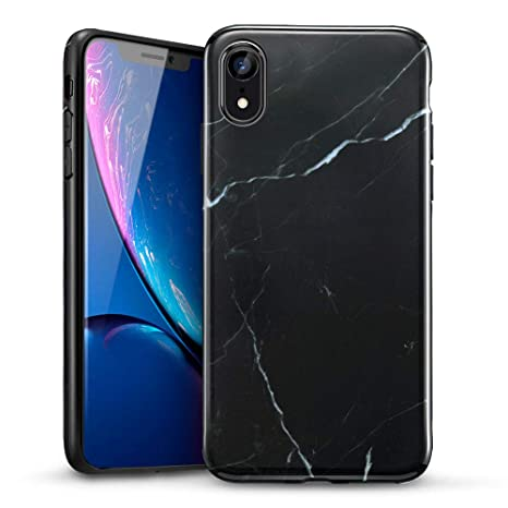 ESR Funda iPhone XR Mármol, Funda Mármol Suave TPU Gel [Ultra Fina] [Protección a Bordes y Cámara] [Compatible con Carga Inalámbrica] Enjaca Apple iPhone XR ...