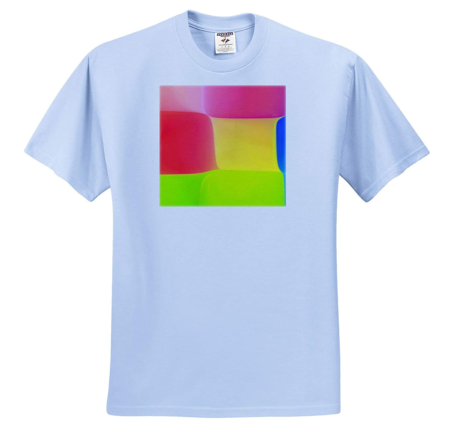 3dRose RVig Generative Artworks Medium red Yellow and Green Squares Color Chessboard T-Shirts