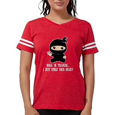 Amazon.com: CafePress Lil Ninja – playera para mujer playera ...