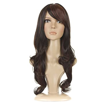 Amazon Com Kim Kardashian Fashion Wig Long Wavy Wig With Bangs