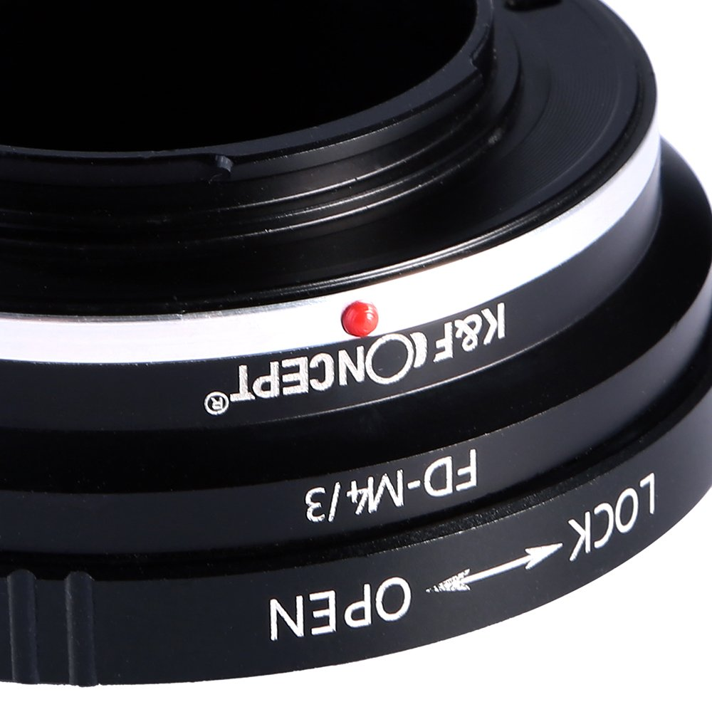 K&F Concept Lens Mount Adapter Ring for Canon FD Lens to Micro Four Thirds M43 Olympus Pen and Panasonic Lumix Cameras by K&F Concept