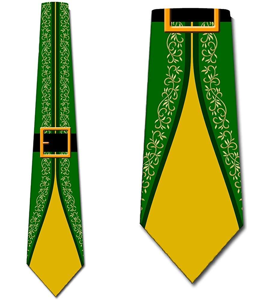 Elf El Verde Y Amarillof Corbata para hombre Corbatas de Navidad ...