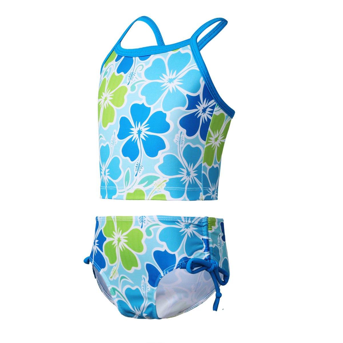 fc6a5a2c1c1 iEFiEL Kids Big Girls Youth 2 Piece Zebra Halter Tankini Swimwear Bathing  Suit