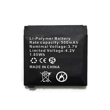Batería de litio recargable Q18 de la batería de Smartwatch con capacidad 500MAH