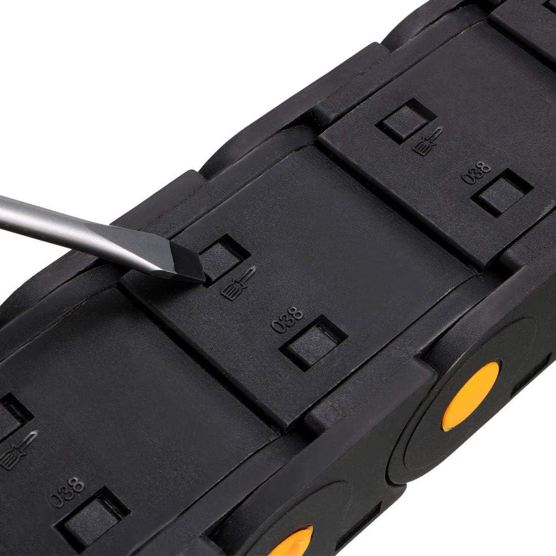 sourcingmap R55 25mm x103mm Schwarz Plastik Offenetyp Kabelschleppkette Drahttr/äger 1M L/änge DE de