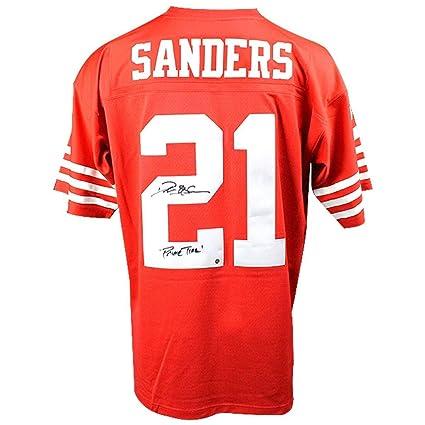 cheap for discount dc838 47ef9 Deion Sanders Autographed Signed San Francisco 49ers ...