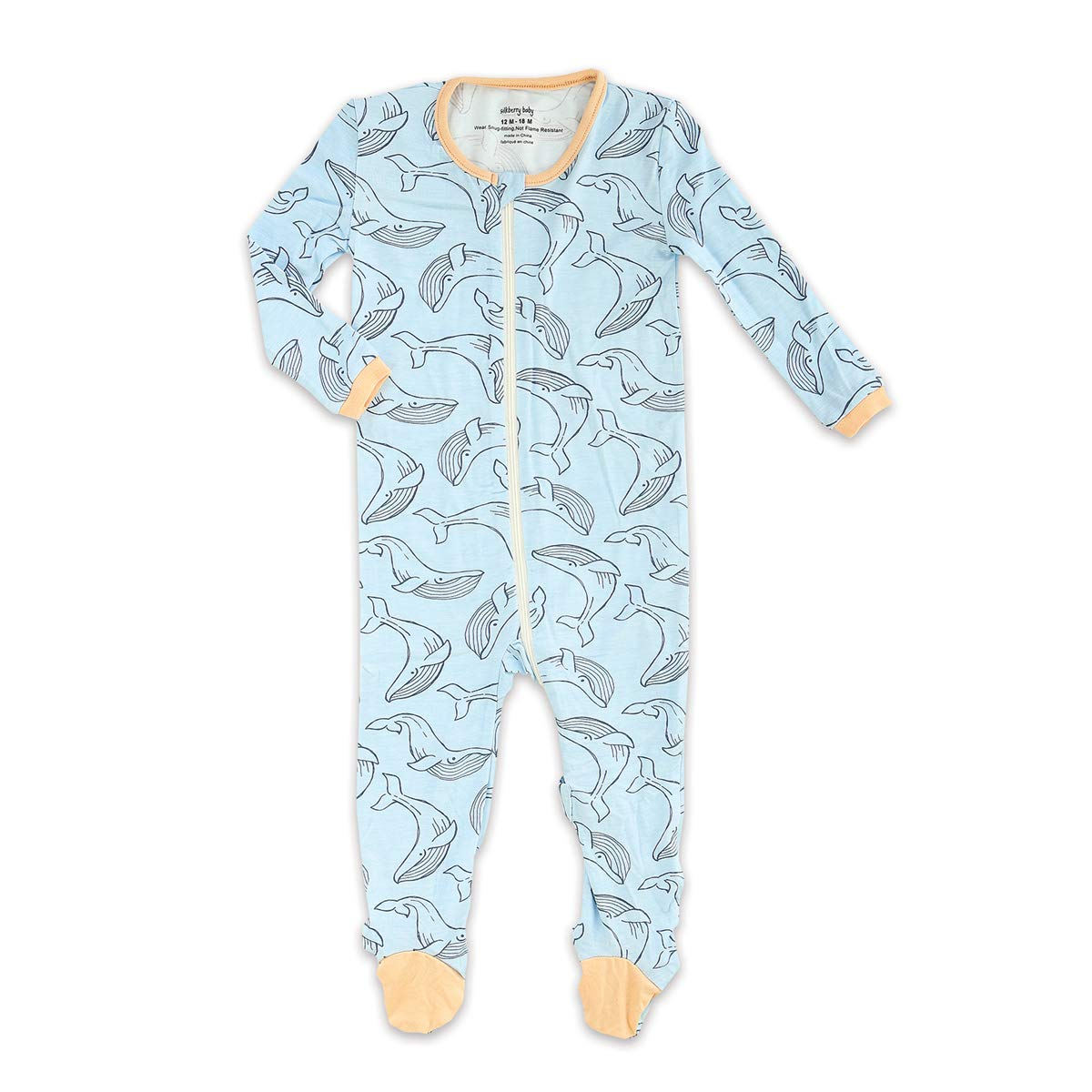 Boy /& Unisex Silkberry Baby Printed Bamboo Footie with Easy Dressing Zipper
