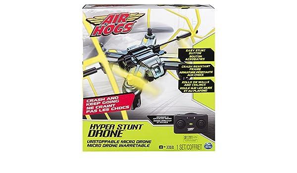 Air Hogs Hyper Stunt Drone - Amarillo (Se distribuye desde el ...