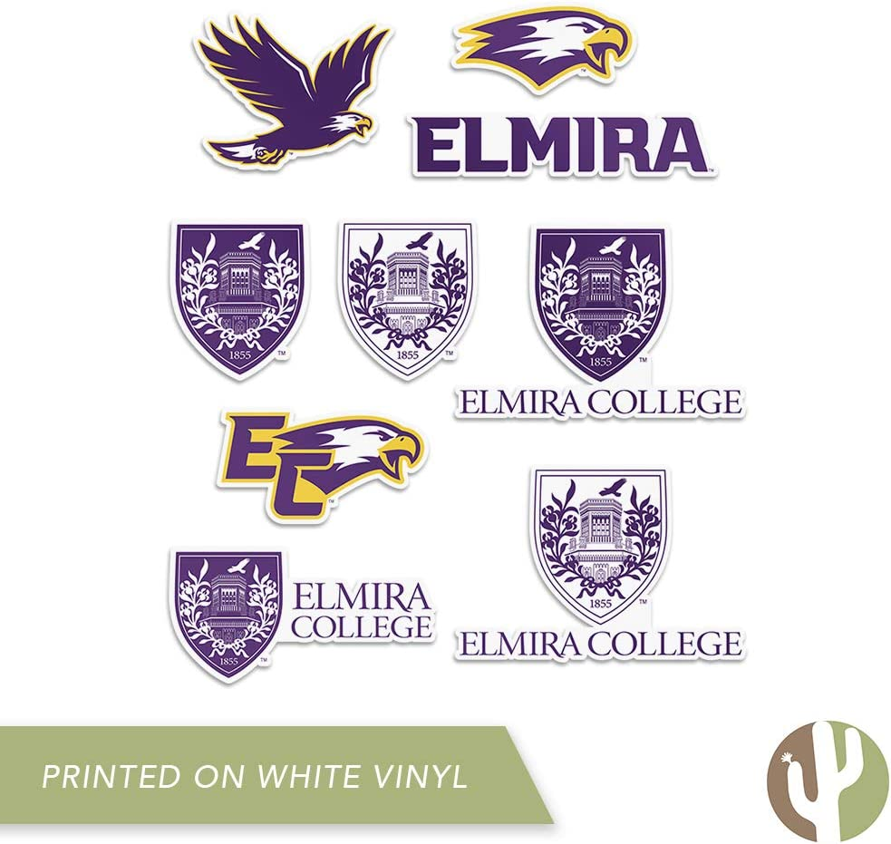 Type 2 Sheet Elmira College Soaring Eagle NCAA Sticker Vinyl Decal Laptop Water Bottle Car Scrapbook
