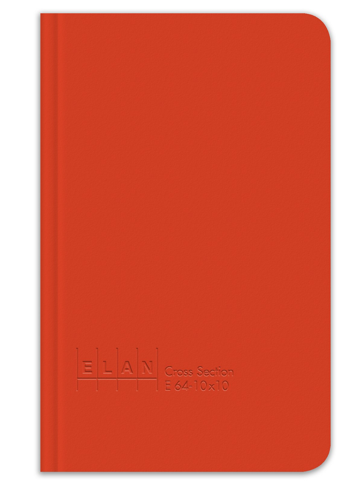 Elan Publishing Company E64-10x10 Cross Section Book 4 ⅝ x 7 ¼, Bright Orange Cover (Pack of 24)