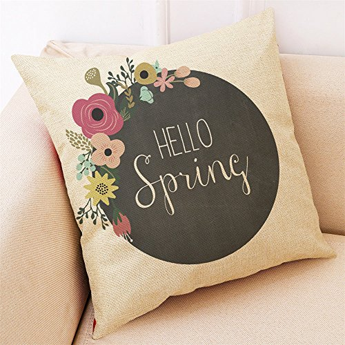 FORUU Throw Pillowcase, St. Patrick's Day Clover Ladies Sales 2019 Under 10 Valentine's Day Best Home Decor Cushion Hello Spring Pillowcase (Best Outdoor Cushions 2019)