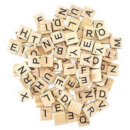 100 Elige Tu Propia De Madera De Scrabble Azulejos Cartas artesanía Juego De Mesa Juguete De Regalo