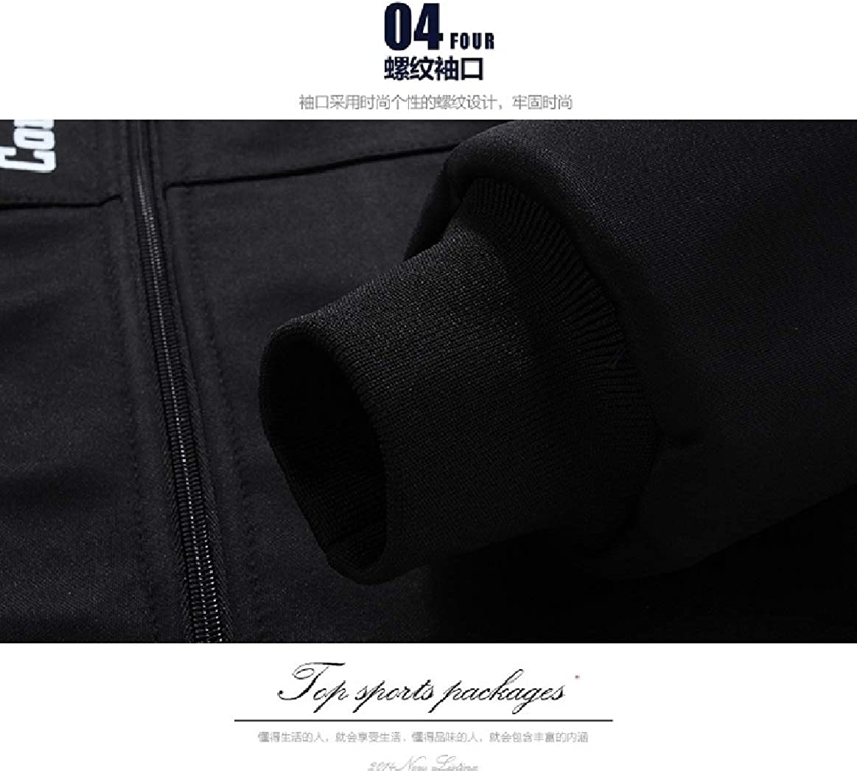 Tootless-Men Suede Thickening Outdoor Plus Size Sweatshirt Pants Set