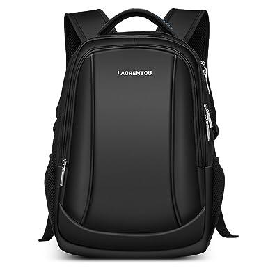 cb5683b31d LAORENTOU Men and Women Laptop Backpack Business Travel Bags School Bag for  Student (BLACK)