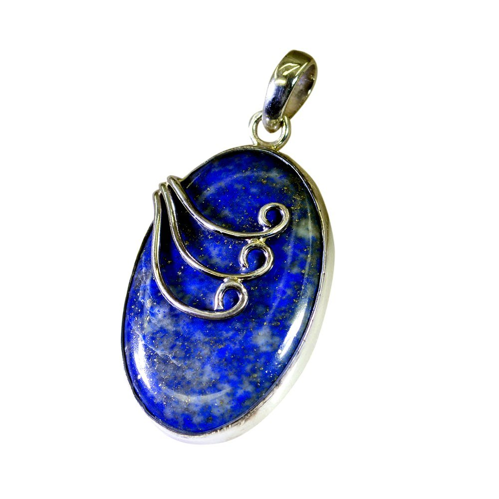 Jewelryonclick Natural Blue Lapis Lazuli 925 Sterling Silver Pendants For Women Chakra Healing Jewelry