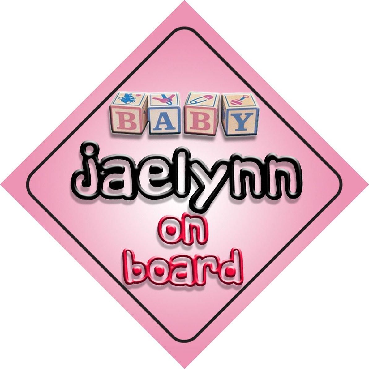 Bébé Fille Jaelynn on Board fantaisie Panneau de voiture Cadeau/cadeau pour nouveau/enfant nouveau-né