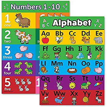 the letter b abc alphabet amp numbers 1 10 poster chart set 25156
