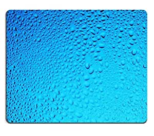 Water Condensation Blue Drop Texture Mouse Pads Customized Made to Order Support Ready 9 7/8 Inch (250mm) X 7 7/8 Inch (200mm) X 1/16 Inch (2mm) High Quality Eco Friendly Cloth with Neoprene Rubber MSD Mouse Pad Desktop Mousepad Laptop Mousepads Comfortable Computer Mouse Mat Cute Gaming Mouse pad