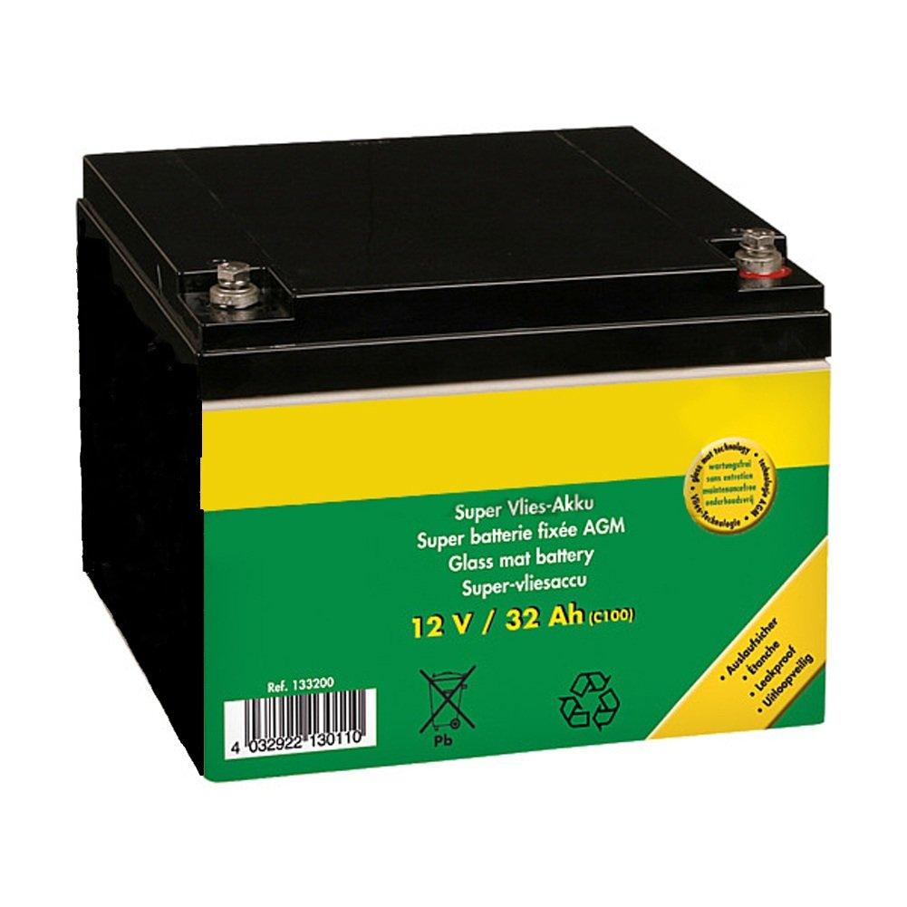 Super-Vlies-Akku 12 V / 32 Ah C100 wartungsfreie Vliesbatterie - 133200