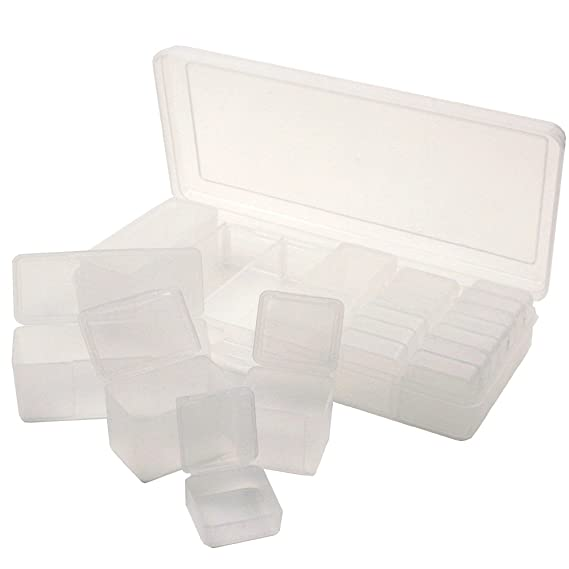 Storage Box for Small Items Divider Tray 20 Containers 4 Sizes Clear Containers Functional Organizer Impact  sc 1 st  Amazon.com & Amazon.com: Storage Box for Small Items Divider Tray 20 Containers 4 ...