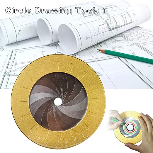 POP-STYLE Circle Drawing Tool Adjustable Small Drawing Tools for Designer Woodworking Enthusiasts Versatile Utensil Drafting Kits