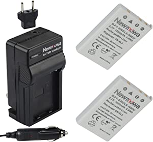 Newmowa EN-EL5 Replacement Battery (2-Pack) and Charger Kit for Nikon EN-EL5 Coolpix P530, P520, P510, P100, P500, P5100, P5000, P6000, P90, P80 Cameras
