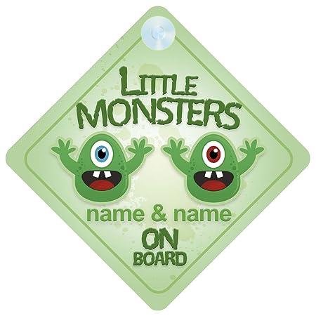 Personalised Child//Baby On Board Emoji Car Sign ~ Grandson On Board