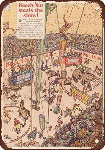 Cartel de Metal con Diseño de Tuerca de Haya y Circo, 20,32 ...