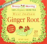 Breezy Morning West Indian Ginger Root Tea Bags, 20 Count