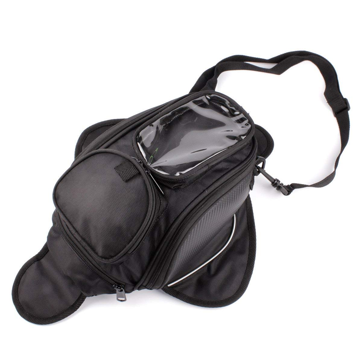 Motorcycle Gas Oil Fuel Tank Bag Waterproof Backpack & Magnetic Motorcycle Tank Bag for Honda Yamaha Suzuki Kawasaki by Remaiw moto