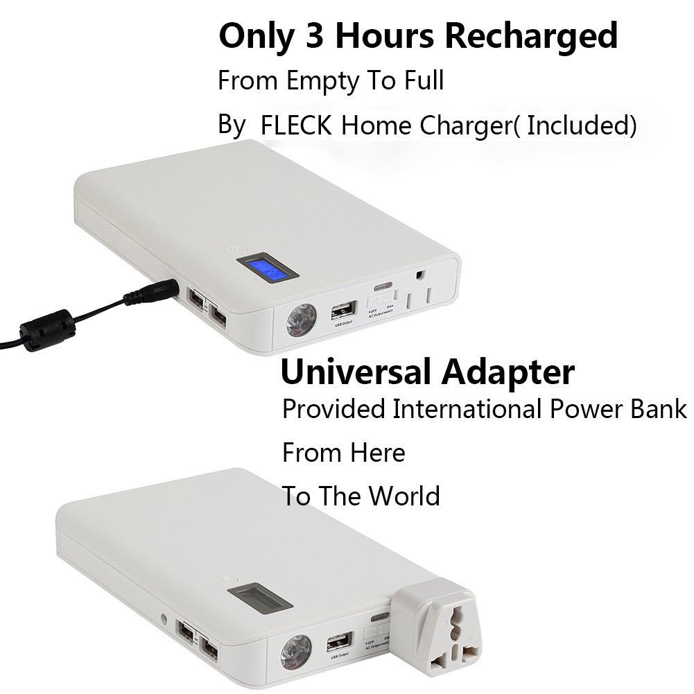Fleck Ultra High Capacity 24000mah 31a 1 Ac Outlet And 3 Usb Ports Mobile Phone Travel Charger Circuit Diagram Multi Functional Portable External Battery Power Bank For All Smartphones