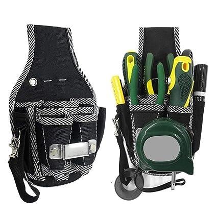 Cadiyo Bolsa de Herramientas para Electricista, cinturón de Cintura, Destornillador, Soporte para contenedores de Almacenamiento
