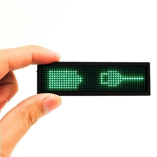 13 opinioni per Porta Badge Elettronica Targhetta Ricaricabile Testo Programmabile Magnetico per