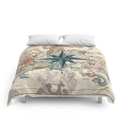 amazon com society6 compass graphic with an ancient constellation