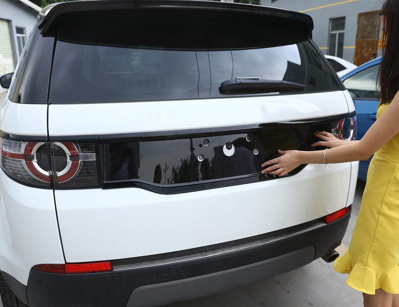 2017 accessori auto Copertura posteriore in ABS cromato lucido nero per auto Discovery Sport 2015