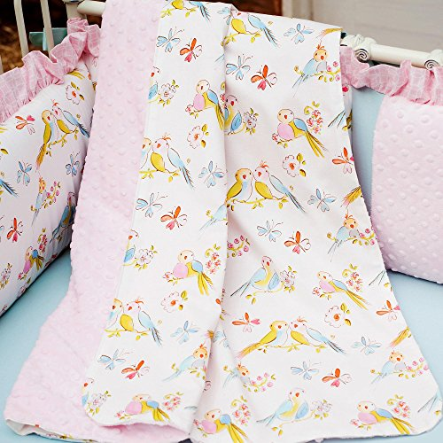 Carousel Designs Love Birds Crib Blanket