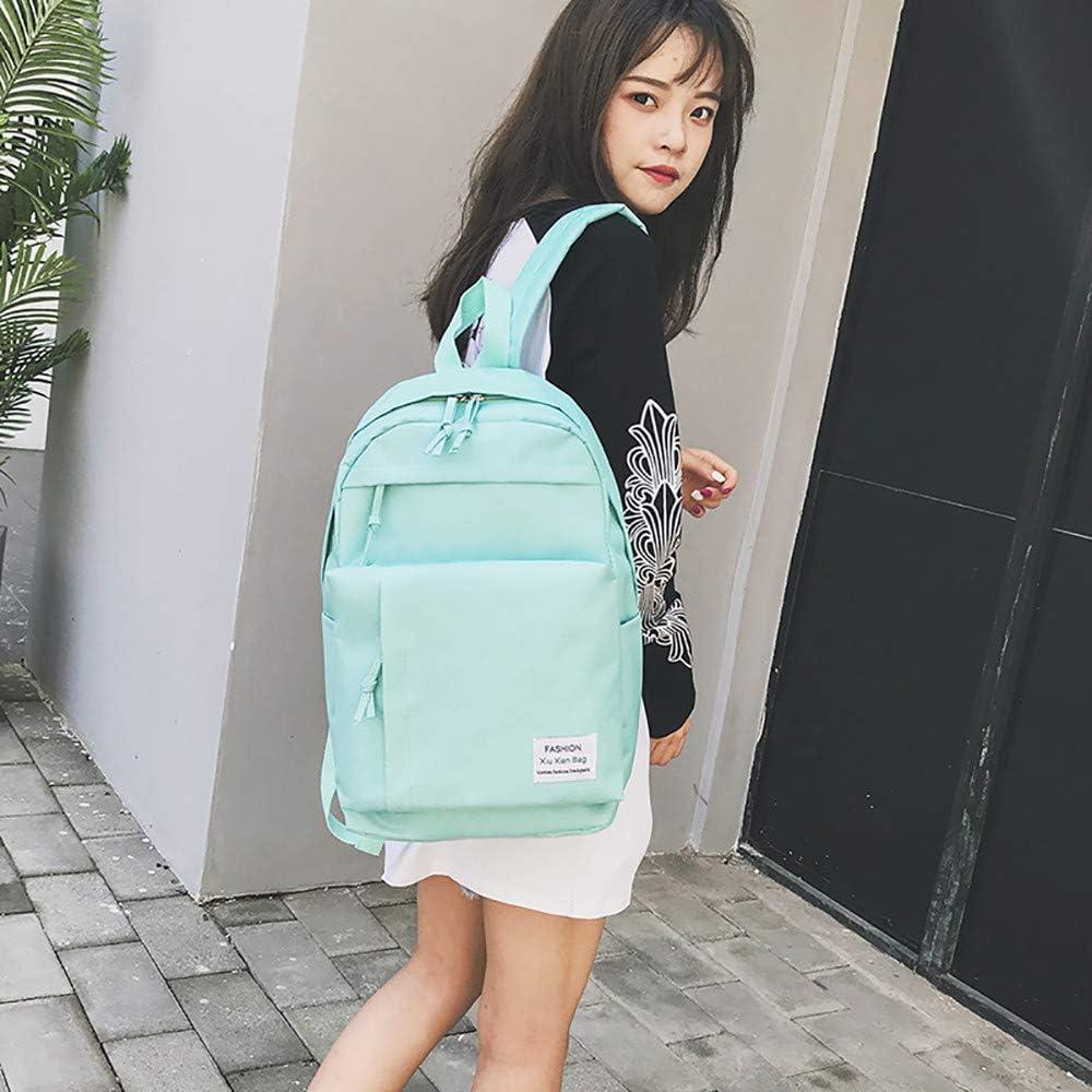 Teen Girls School Bag Student Versatile School Bag Casual Large Computer Bags Zulmaliu Light blue