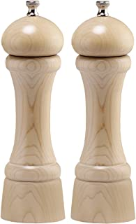 """product image for Chef Specialties 8"""" Windsor Pepper Mill and Salt Mill Set, Natural"""