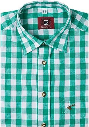 ORBIS Camisa de Manga Larga para Traje Regional Verde a ...